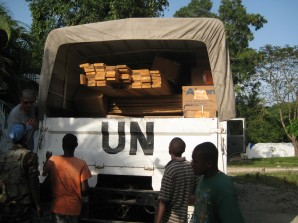 Transportation of goods provided by Robert Courtney Group and transported by the UN.