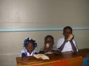Students in class enjoying breakfast!